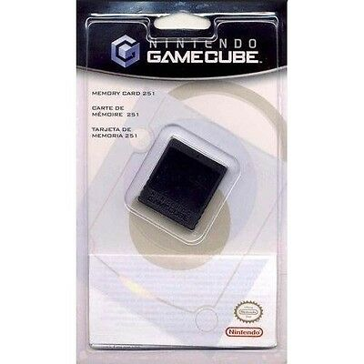 Genuine Nintendo Gamecube Memory Card 251 Block Brand New & Sealed