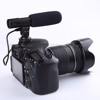 Professional Shotgun Condenser D-SLR Camera Microphone for Nikon Canon MIC-01