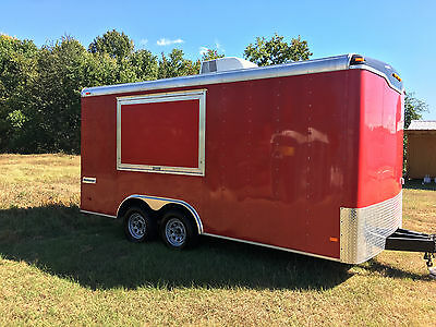 2014 Haulmark Transport Concession Trailer 8.5x16 Food Truck Sink Window Used