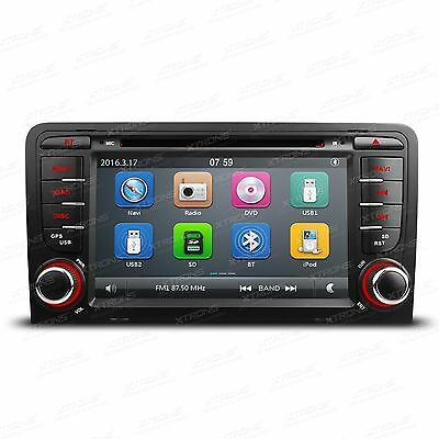 "Autoradio DVD Navi mit 7"" Touchscreen Bluetooth 3G 1080P Video für Audi A3 S3"
