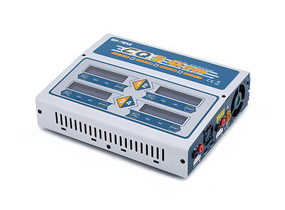 EV-Peak CQ3 QUAD 4 Port 10Amps 400Watts AC/DC LiPo LiHV Battery Charger