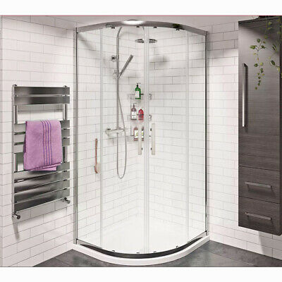 Offset Quadrant Shower Enclosure and Tray Corner Shower Cubicle Glass Screen