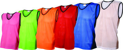 Training Mesh Vests / Bibs for Team Sports - 6 Sizes - 9 Colours