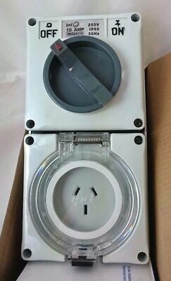 ipd W66SS310 Weatherproof Switch Outlet 3 Pin flat 10A  250V 3 Pole 50Hz combo