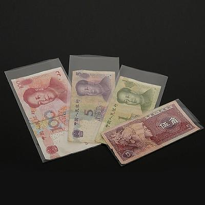 4 Size Currency Sleeves Holders For Banknotes Paper Money Stamp OPP Bags 400pcs
