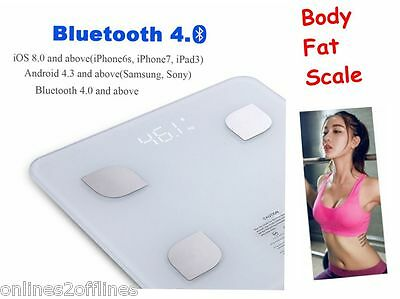 Digital LED Bluetooth Bathroom Smart Body Fat Scale Gym Weight Water Electronic