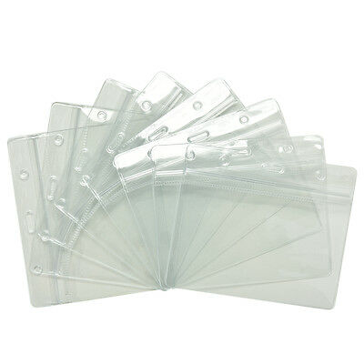 20X Clear Transparent PVC Plastic Pocket Wallet ID Card Pass Badge Holder Case 1