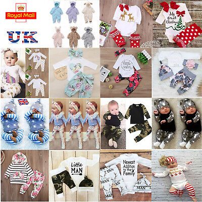 Newborn Infant Baby Boy Girl Romper Hooded Jumpsuit Bodysuit Warm Clothes Outfit