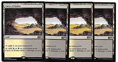 4 x CAVES OF KOILOS - M15 - Magic the Gathering MTG -NM