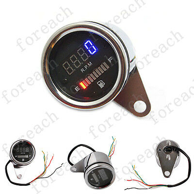 "CAR 2"" 52mm DIGITAL Red LED TACHO METER TACHOMETER GAUGE 0-9999 RPM AU"