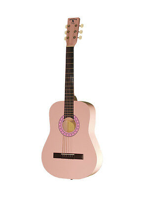 """Indiana 36"""" Steel String Acoustic Guitar with Bag Pink"""