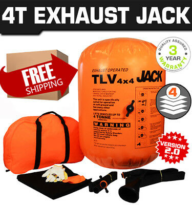 Air Jack Exhaust Operated Tools 4 Tonne Multi Layer 4x4 Off-Road Car Rescue Trip
