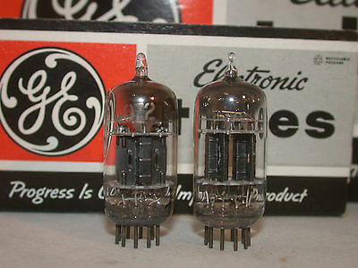 GE USA 6072 *****(12AY7)  2 x TUBES  test NOS - Triple Mica - 50 ies topquality