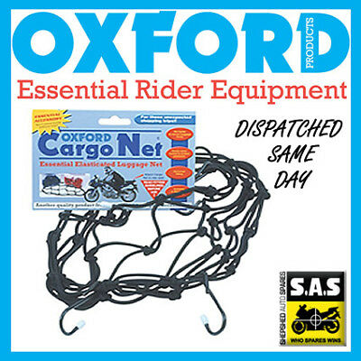 Oxford Motorcycle Bike Scooter Cargo Net Blue OF129