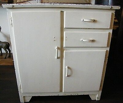 VINTAGE EMANEL TOP KITCHEN UINT CANINET CUPBOARD 40s 50s shabby CHIC