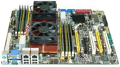MSI K9ND Speedster2 Server Mainboard Bundle 2x Opteron 2352 QuadCore 2.1GHz 16GB