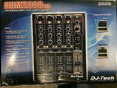 Dj Tech DDM2000USB Professional Compact 4 Channel Usb Dj Mixer
