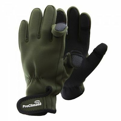 ProClimate Neoprene Shooting Fishing Outdoor Gloves OLIVE
