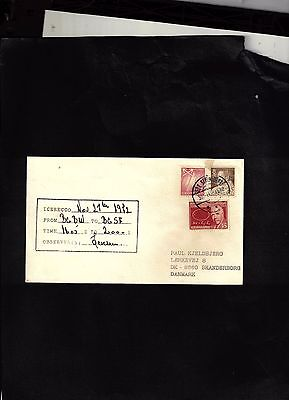1972 Cover sent to Denmark - Ice Measuements