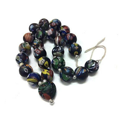 Stunning Greek ROMAN GLASS NECKLACE THE MAGIC BEAD STONE MOSAIC ART