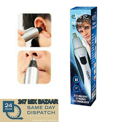 Nose Hair Trimmer Battery Run All-in-1 Elpine Nasal Ear Eyebrow Clippers