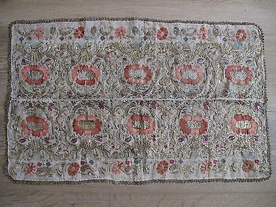 Vintage old 19 Century Turkey Ottoman beautiful GOLD embroided table cloth
