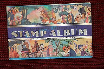 American Oil Company- Amoco Gas- The American Historical Stamp Album,stamps 1937