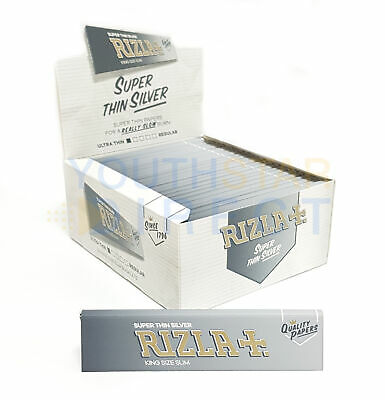 Rizla Silver Slim King Size Cigarette Smoking Rolling Paper - *NEW PACKAGING*