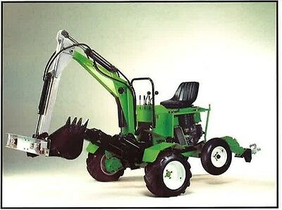 Plans For Truck Hoe Backhoe Mini Excavator, Trench Digger,and 2/4Wd