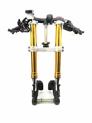 11 - 14 Kawasaki Ninja Zx10 R Front End Forks Suspension Handlebars Triple Tree