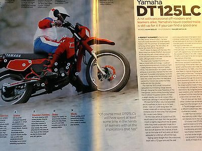 Yamaha Dt125Lc # 1982 # Buyers Guide # 4 Page Original Motorcycle Article