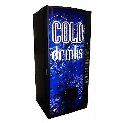 Multi Price 10 Selection Soda Beverage Vending Machine w/ Cold Drinks Graphic
