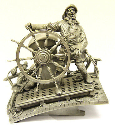 """Franklin Mint """"Into the Storm"""" Pewter Sculpture by Peter Jackson"""