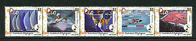 Cook Islands 2016 MNH Summer Olympics Rio 5v Strip Swimming Sailing Stamps