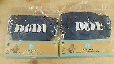 Charlie Banana Extraordinary Training Pants, Dude, Blue, Large & X-Large - NWT