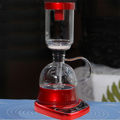 Raccea Electric 220V Siphon Coffee Maker Syphon Coffee Brewer Machine TCA-3