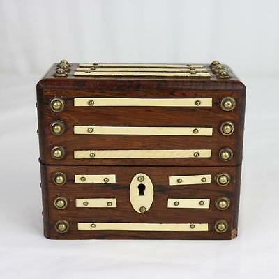 Antique Anglo Indian Apothecary Box, 19th Century w/ Brass Rivets RARE Regency