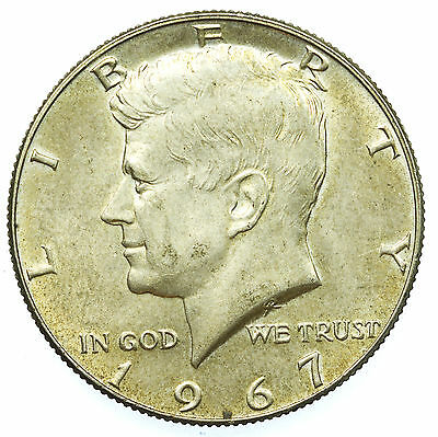 United States, Kennedy Half-Dollar, Jfk, Silver, Usa, 1967