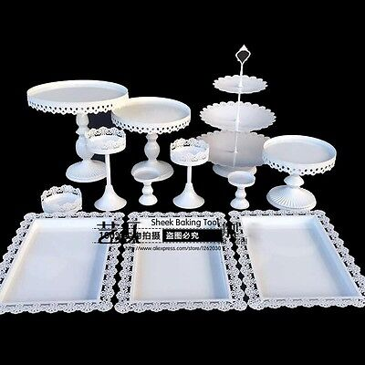 Set of 12 White Cake stand  Set wedding cupcake stand set candy bar decoration