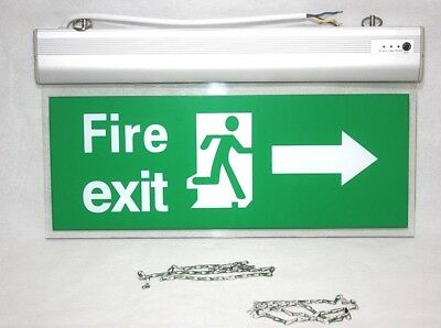 LED Maintained Non Maintained Emergency Lighting Exit Sign Bulkhead Light