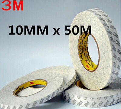DZ604 3M Double Side SUPER STICK HEAVY ADHESIVE Repair Cell Phone 10mm x 50M ! ♫