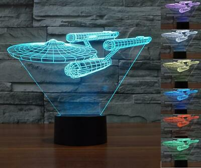 Star Trek USS Enterprise 3D LED Night Light 7 Color Touch Switch Table Desk Lamp
