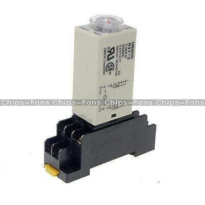 DC 12V 8 Pins DPDT H3Y-2 0-30 Seconds Delay Power On Timer Time Relay w Base