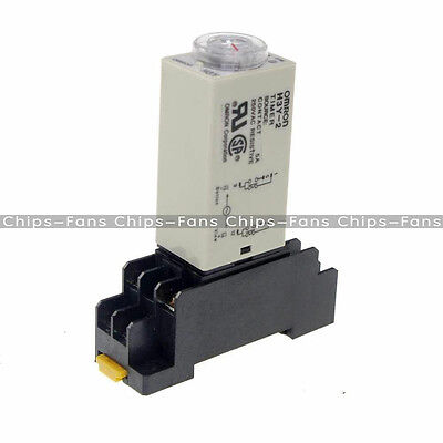 DC 12V 8 Pins DPDT H3Y-2 0~30 minutes Delay Power On Timer Time Relay w Base
