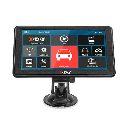 XGODY 8GB Sat Nav 7'' Truck Car GPS Navigation Bluetooth Reverse Rearview Camera