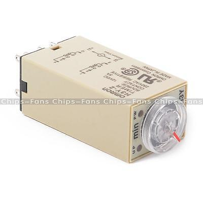 NEW H3Y-2 220VAC 8P 0-30 Minutes Timing Delay Range DPDT Relay Timer CF