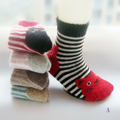 5Pairs Lot Child Baby Kids Cashmere Wool Warm Thick Soft boys girls Winter Socks
