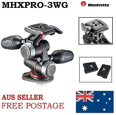 New Manfrotto MHXPRO-3WG XPRO Geared Three Way Head With Adaptor Body