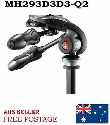New Manfrotto MH293D3-Q2 3 Way Photo Head With Compact Foldable Handle