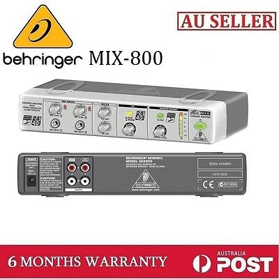New Genuine BEHRINGER MIX-800 Ultra-Compact Karaoke Processor w Voice Canceller